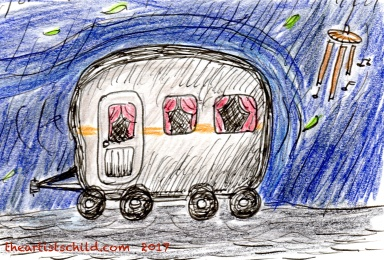 caravan-drawing