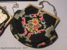Needlepoint and Petit Point Evening Bag, 1930s