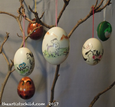 Chinese zodiac animal painted eggs