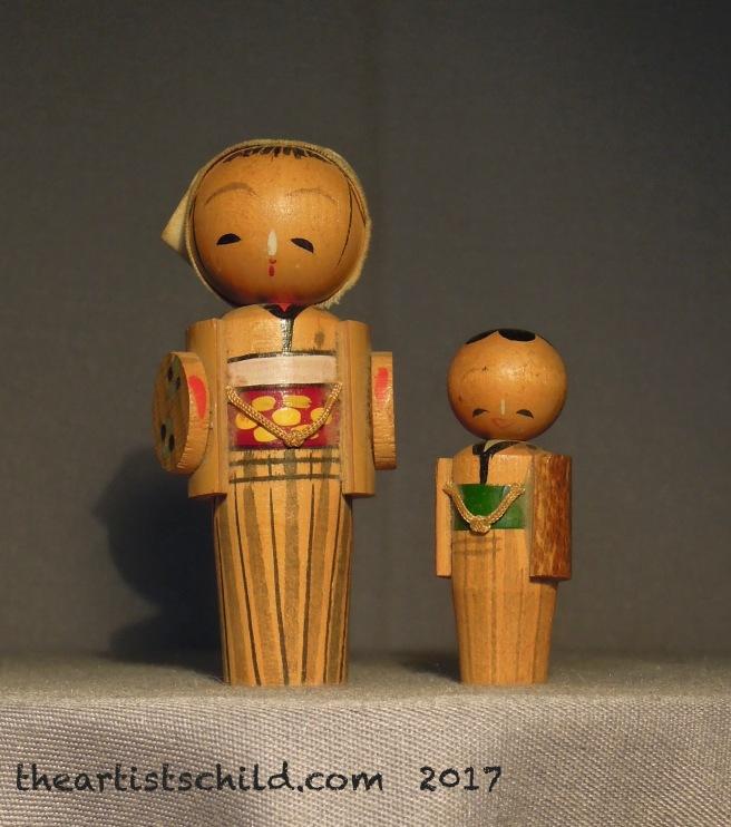 Vintage Kokeshi Dolls (1960s)