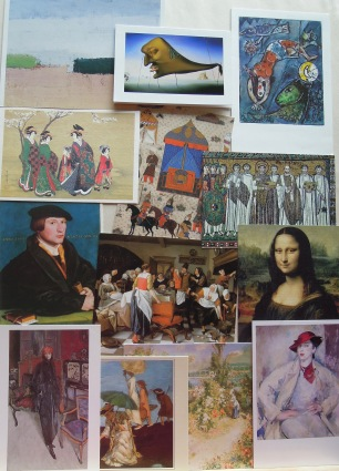 Postcards and greeting cards of Artworks