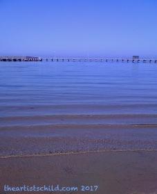 Calm beach in April