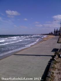 Sunny beach, March, same day