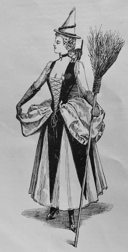 Victorian Witches Costume, 1895