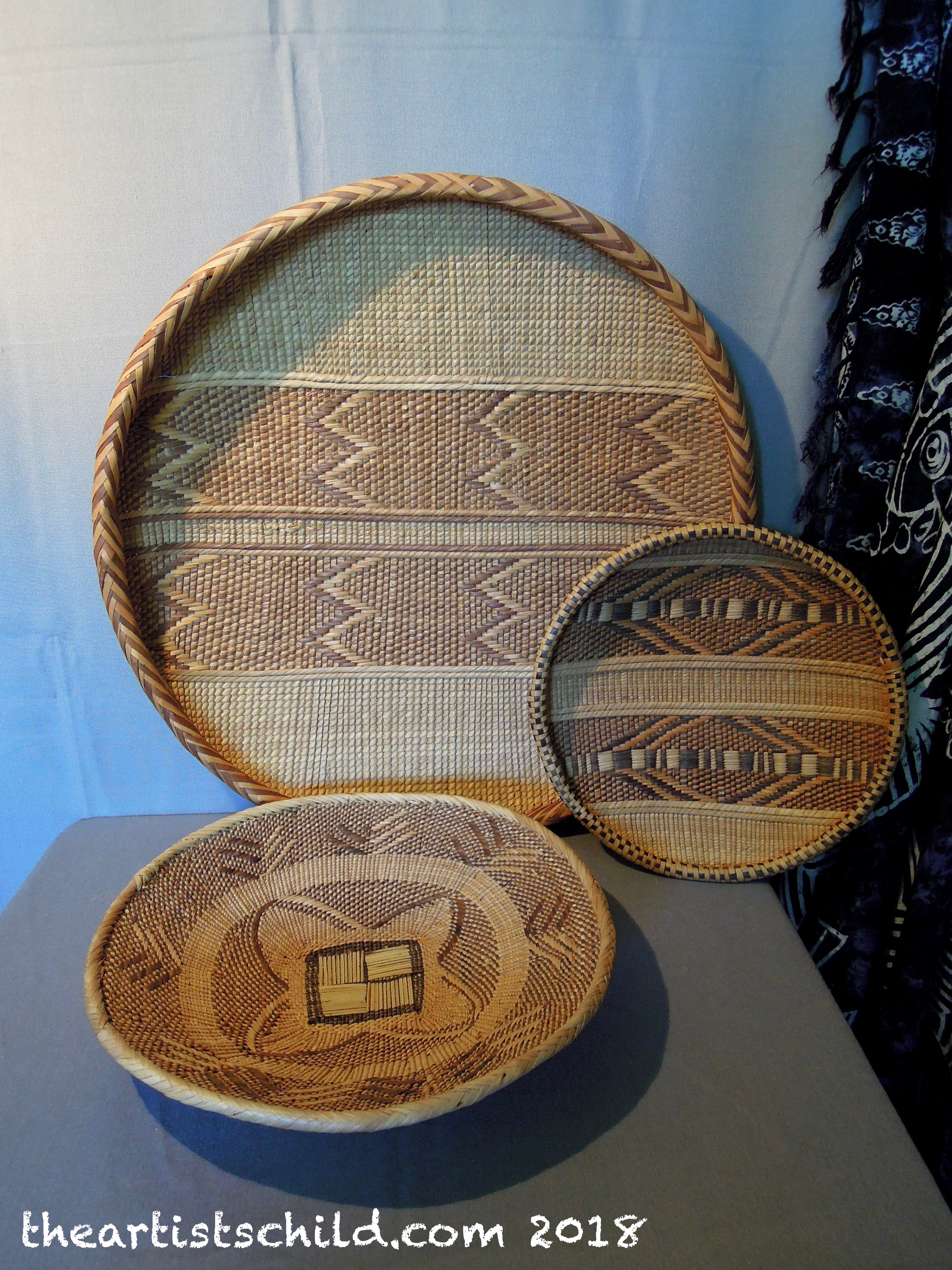 Traditional Small Wicker Basket With Liner&handle : Woven baskets a living tradition the artist s child